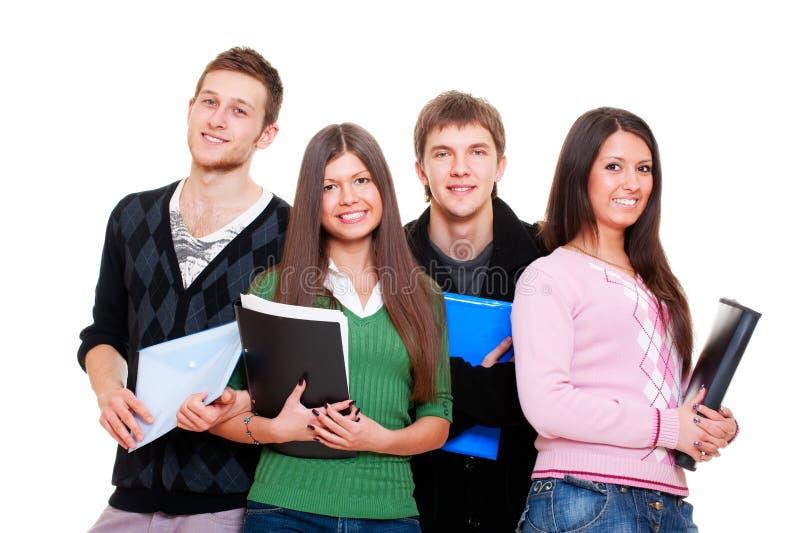 Vrolijke studenten stock fotografie