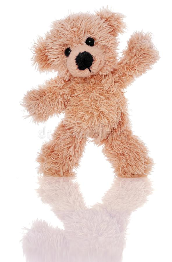Vrolijke teddybeer royalty-vrije stock afbeeldingen
