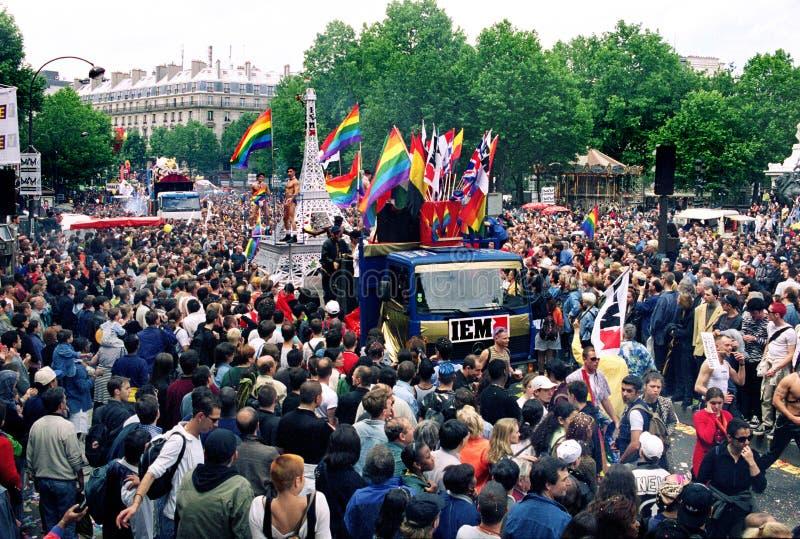 Vrolijke trots Parijs royalty-vrije stock foto