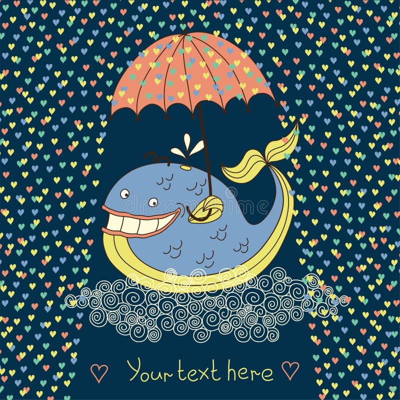 Vrolijke walvis royalty-vrije illustratie