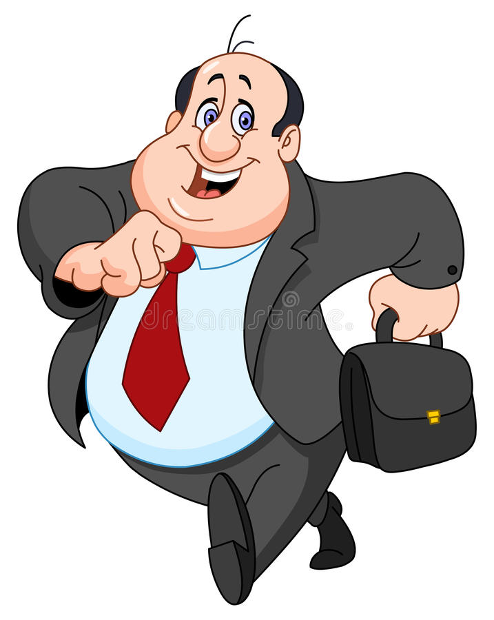 Vrolijke zakenman royalty-vrije illustratie
