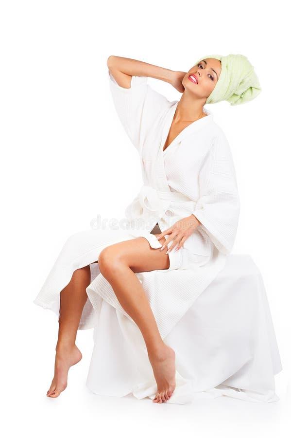 Vrouw in bad royalty-vrije stock foto's