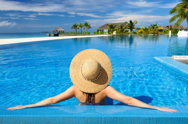 Download Vrouw bij poolside stock afbeelding. Afbeelding bestaande uit mensen - 29504491