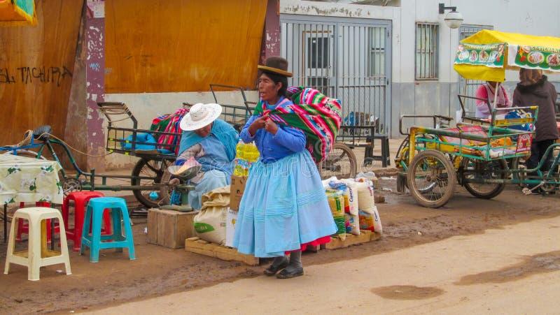 Vrouw in Bolivië stock afbeelding