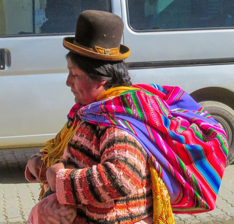 Vrouw in Bolivië royalty-vrije stock afbeelding