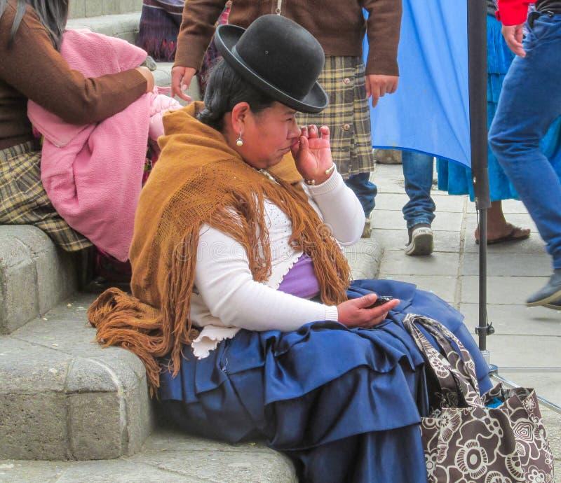 Vrouw in Bolivië royalty-vrije stock afbeeldingen