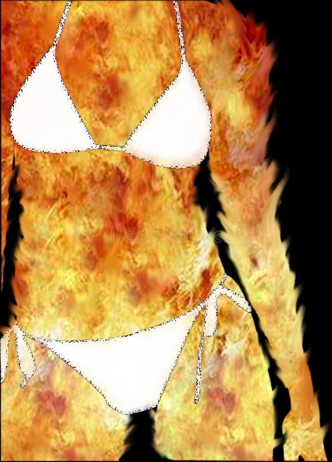 Download Vrouw in brand stock illustratie. Afbeelding bestaande uit cijfer - 33679