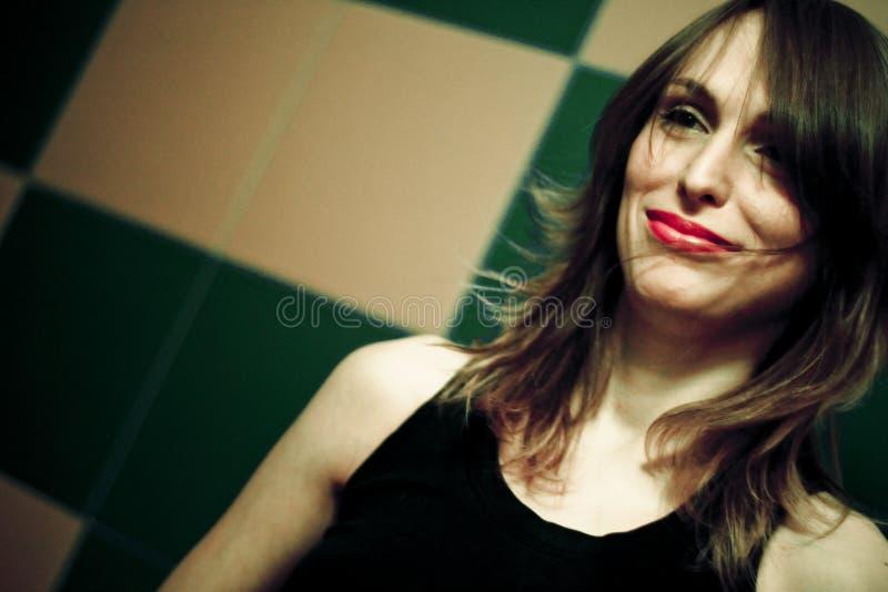 Vrouw in Club royalty-vrije stock fotografie
