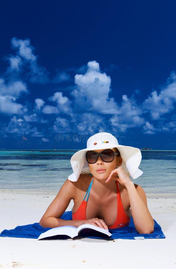 Vrouw in de Maldiven royalty-vrije stock foto's