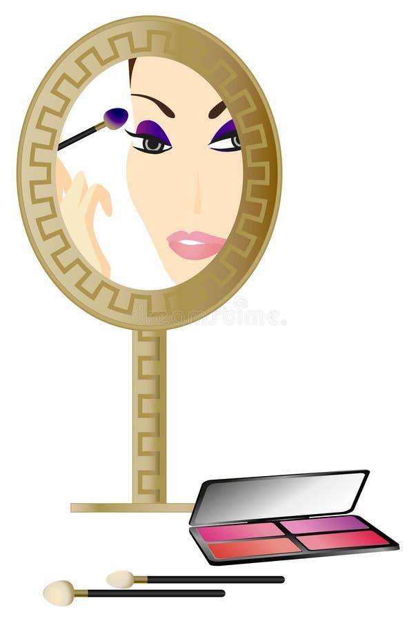 Vrouw in de Spiegel vector illustratie