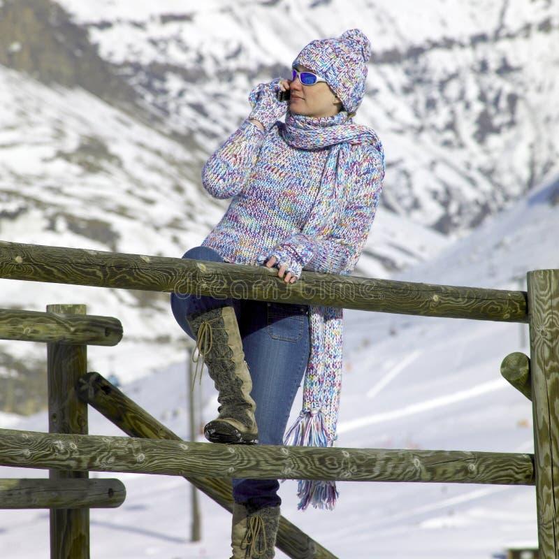 Vrouw in de winter royalty-vrije stock foto