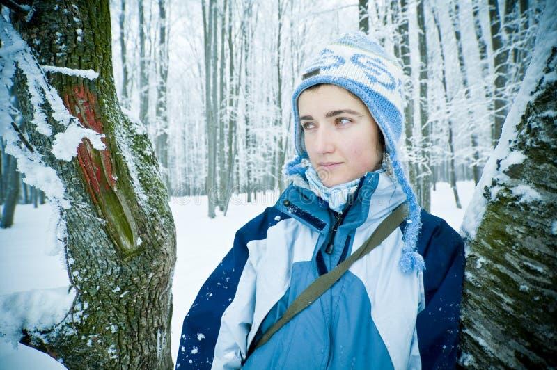 Vrouw in de Winter royalty-vrije stock fotografie