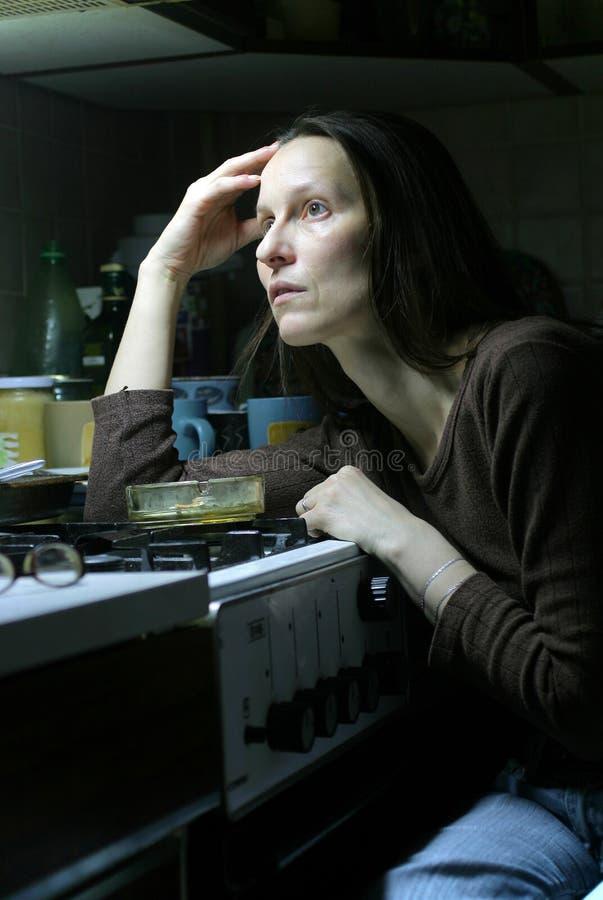 Vrouw-depressie royalty-vrije stock foto's
