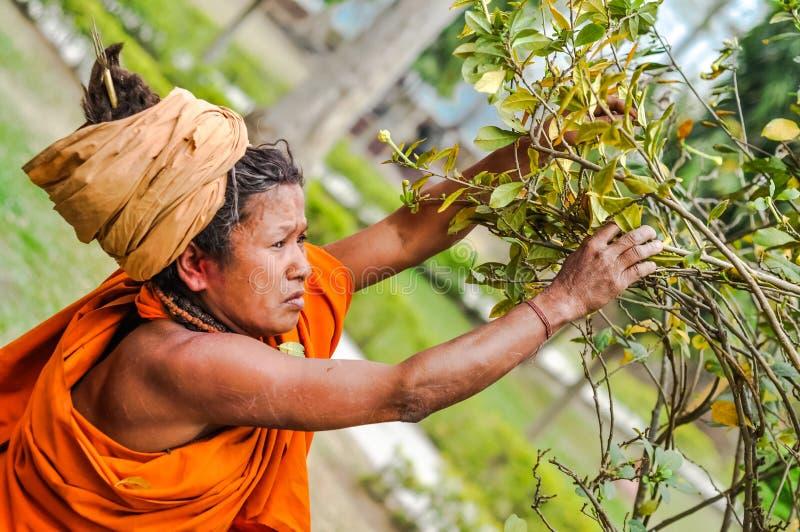 Vrouw in Dibrugarh in Assam royalty-vrije stock fotografie