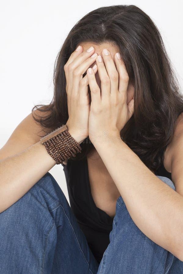 Download Vrouw die alleen zijn stock foto. Afbeelding bestaande uit eenzaamheid - 29502694
