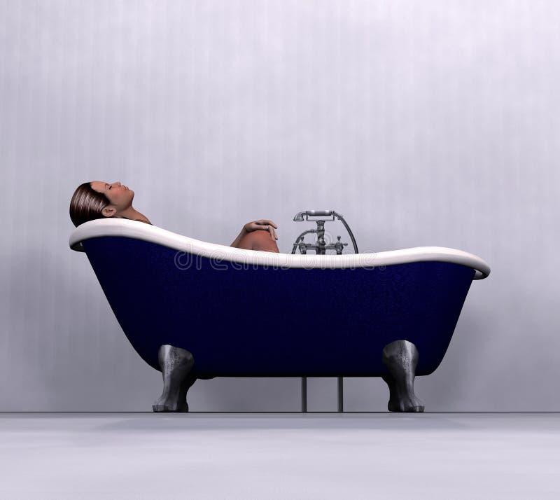 Vrouw die bad heeft royalty-vrije stock fotografie