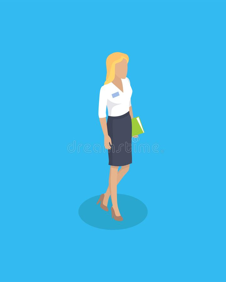 Vrouw die Blouse en Rok Vectorillustratie dragen stock illustratie