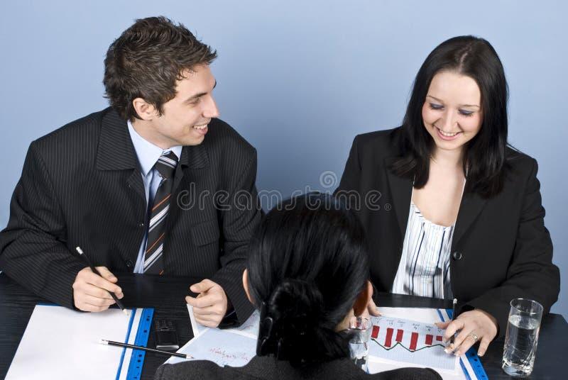 Vrouw die een baangesprek heeft stock afbeelding