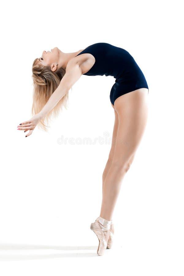 Vrouw die een dans uitvoeren stock foto