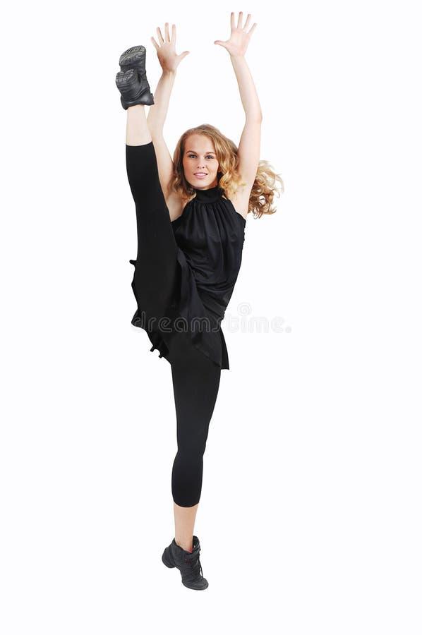 Of vrouw die exerising danst stock afbeeldingen