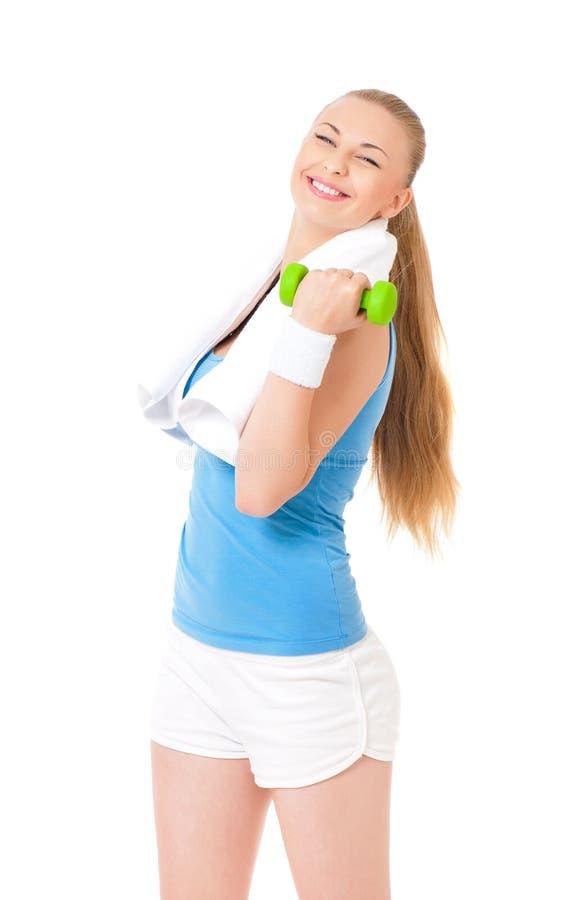 Vrouw die geschiktheidsoefening doet royalty-vrije stock foto