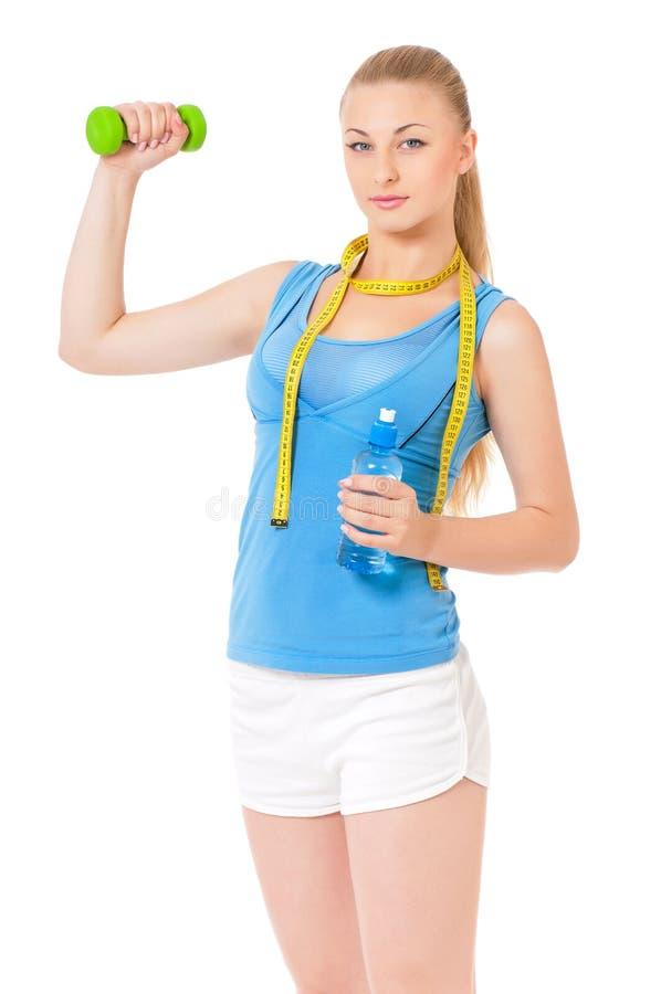 Vrouw die geschiktheidsoefening doet stock foto's