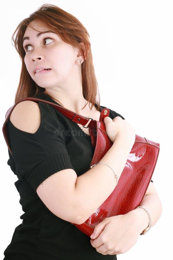Vrouw die haar foelie krijgt royalty-vrije stock fotografie
