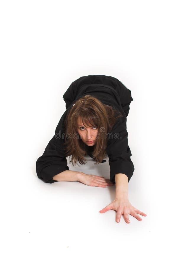 Vrouw die karate doet royalty-vrije stock foto's