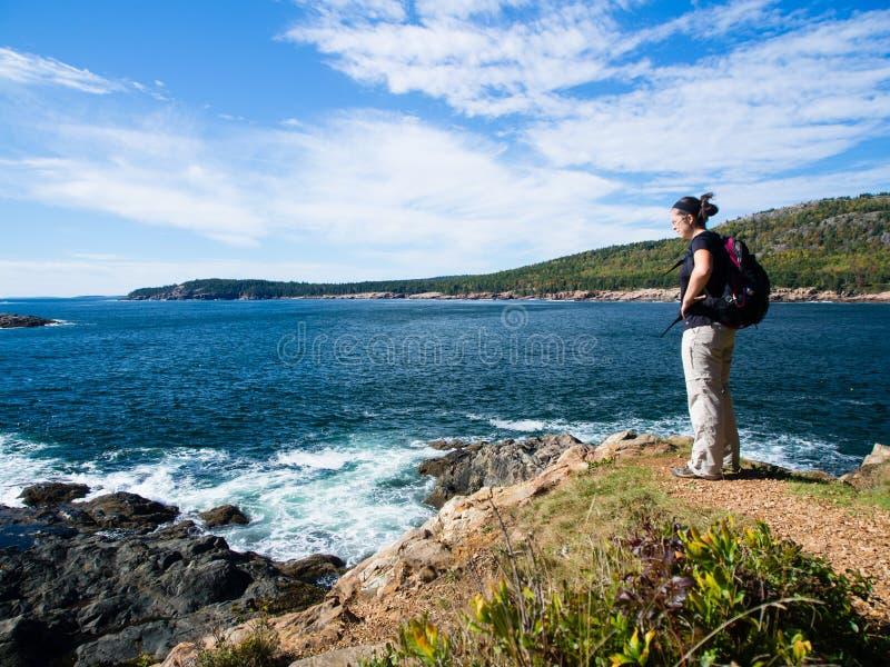 Wandeling in Nationaal Park Acadia royalty-vrije stock fotografie