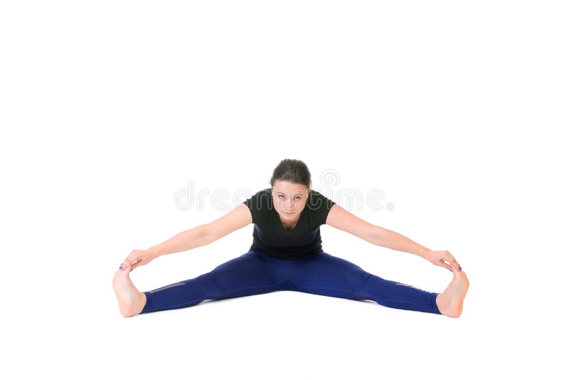Download Vrouw die spleet doet stock foto. Afbeelding bestaande uit pasvorm - 54079452