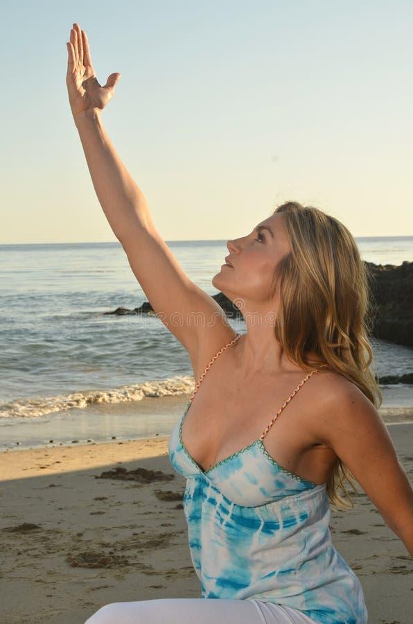De Yoga van de avond royalty-vrije stock foto's
