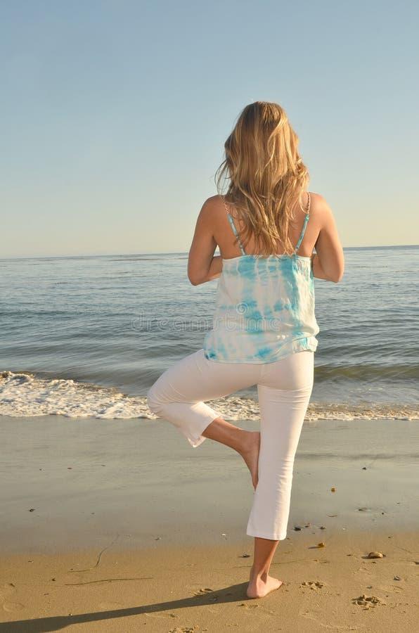 De Yoga van de avond royalty-vrije stock afbeeldingen