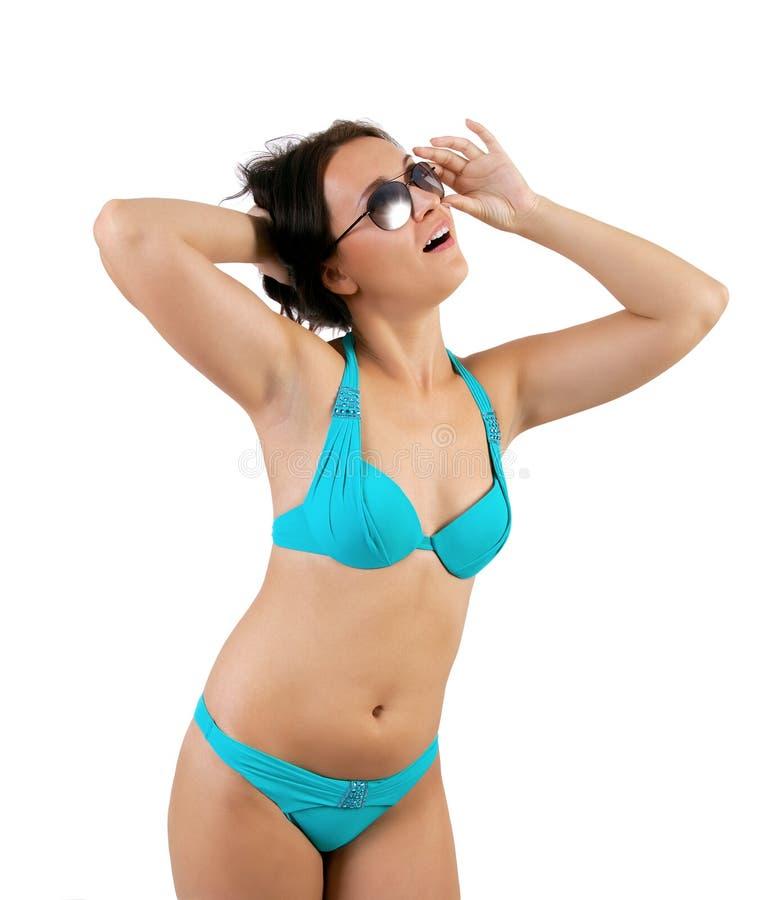 Vrouw in een bikini royalty-vrije stock afbeeldingen