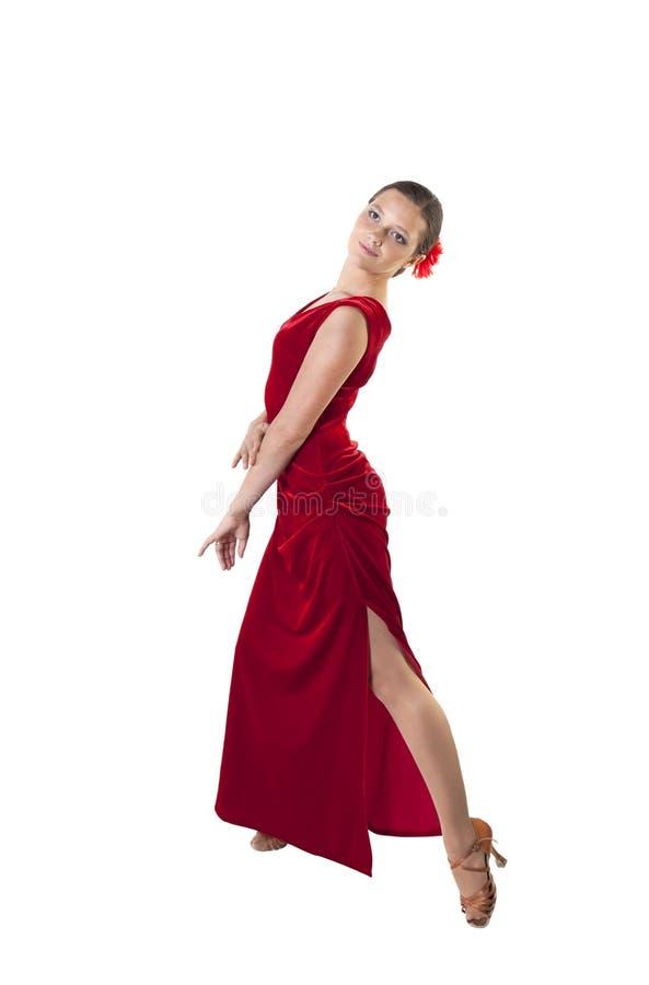 Vrouw in een dansende kleding royalty-vrije stock afbeelding