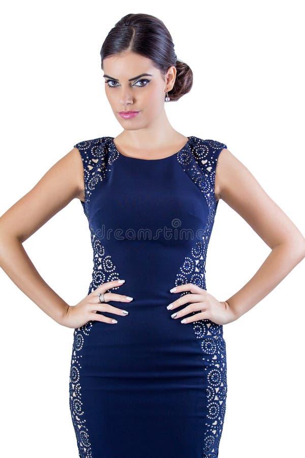 Vrouw in een de zomerkleding royalty-vrije stock afbeelding