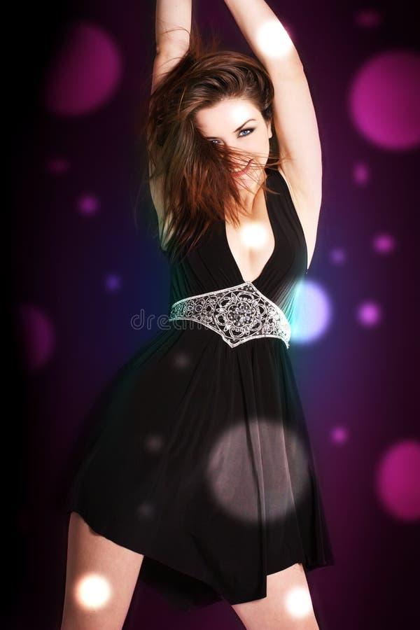 Vrouw in een disco royalty-vrije stock fotografie