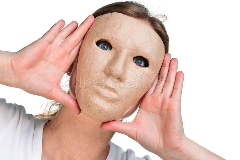 Vrouw in een masker stock fotografie