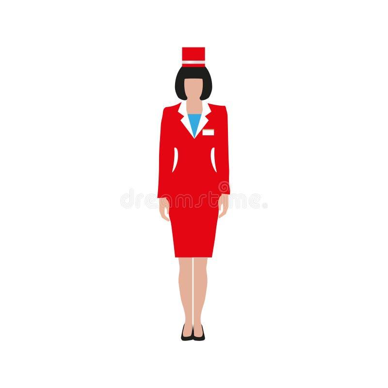 Vrouw in een rood kostuum royalty-vrije illustratie