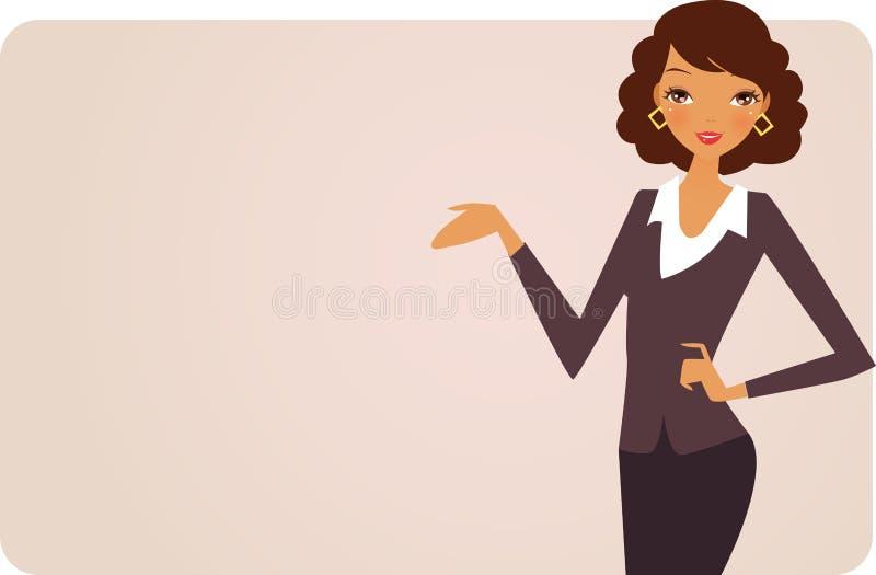 Vrouw en banner stock illustratie