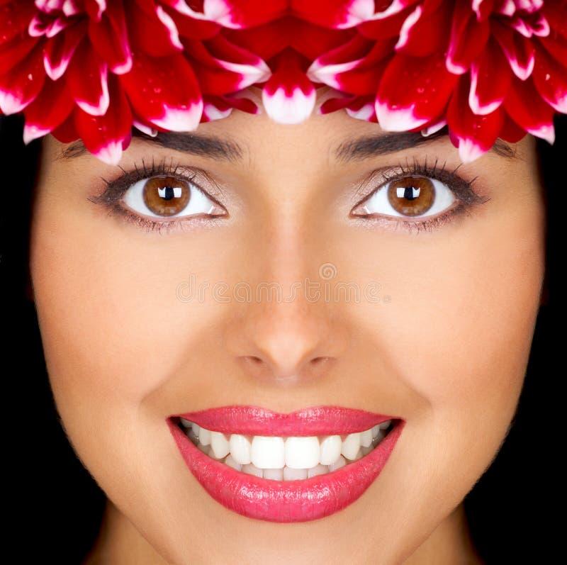 Vrouw en bloemen