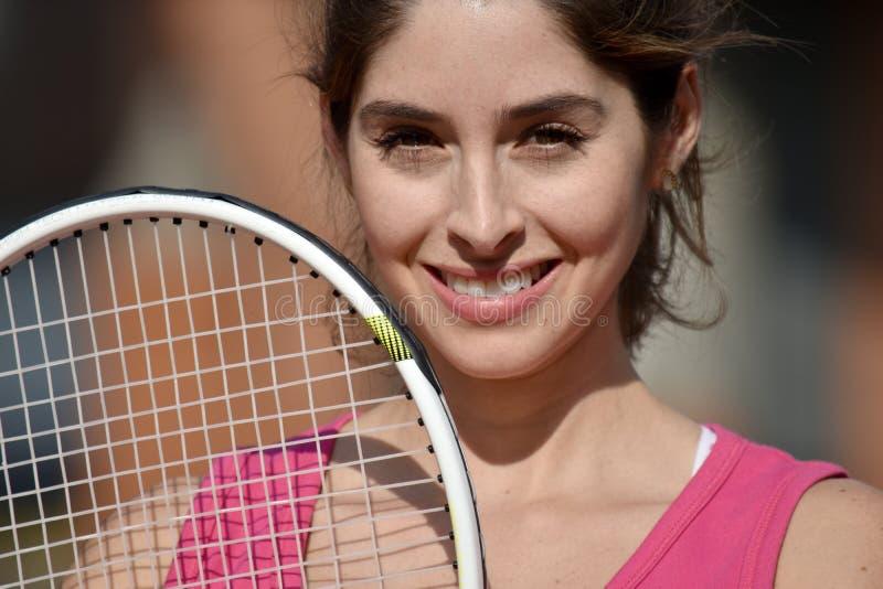 Vrouw en Geluk die Sportkleding dragen royalty-vrije stock foto