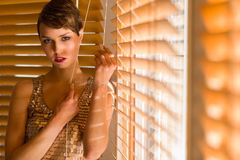 Vrouw en jaloezie royalty-vrije stock foto's