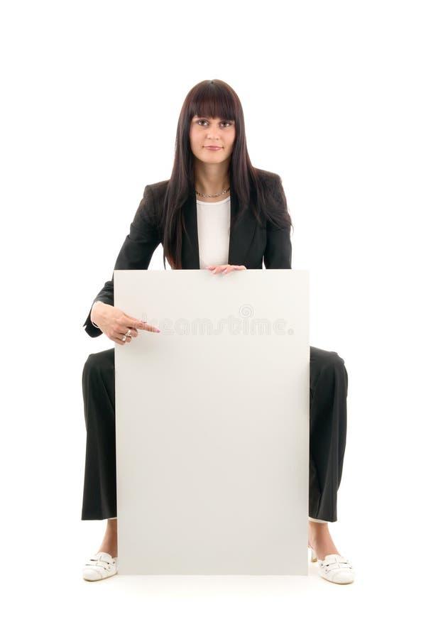 Vrouw en lege ruimte stock foto's