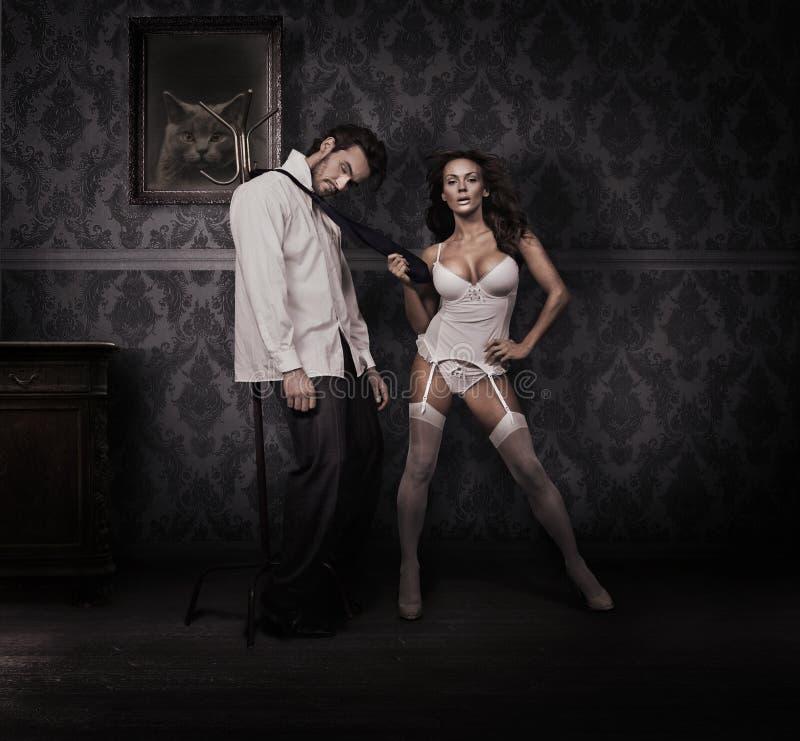 Vrouw en man royalty-vrije stock afbeeldingen
