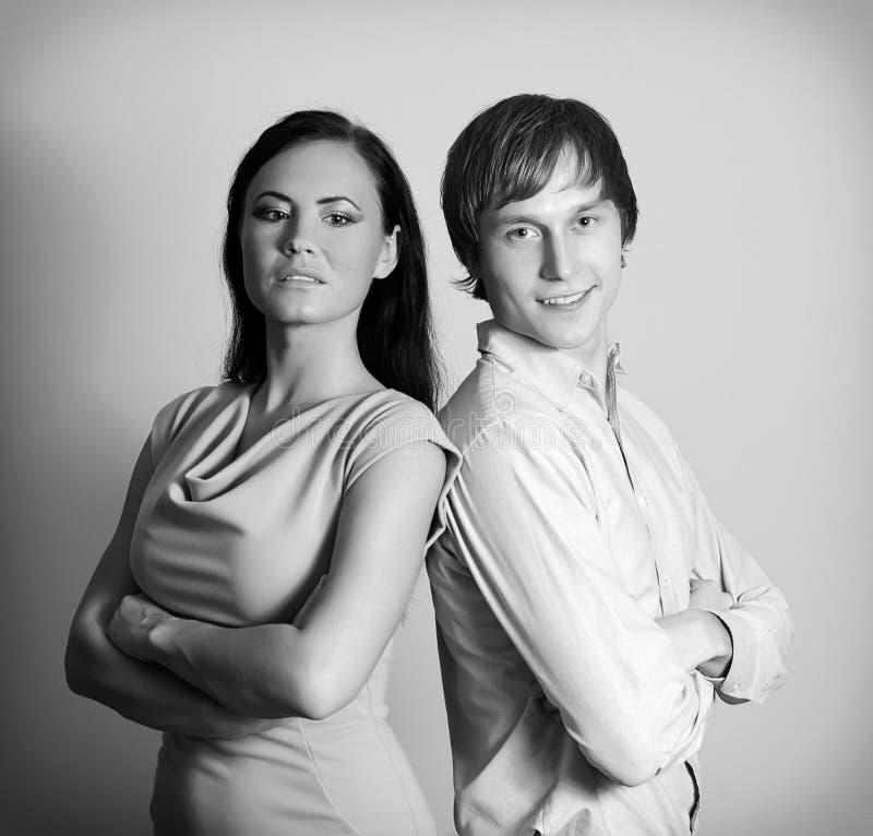 Vrouw en man. stock afbeeldingen