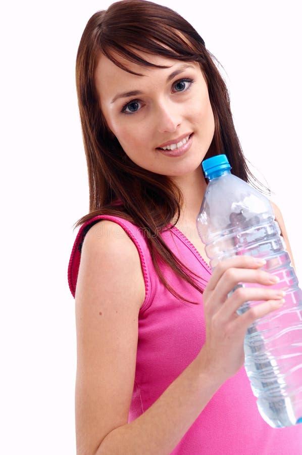 Vrouw en water royalty-vrije stock foto