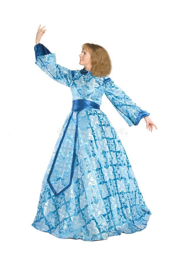 Vrouw in fancydress stock foto's