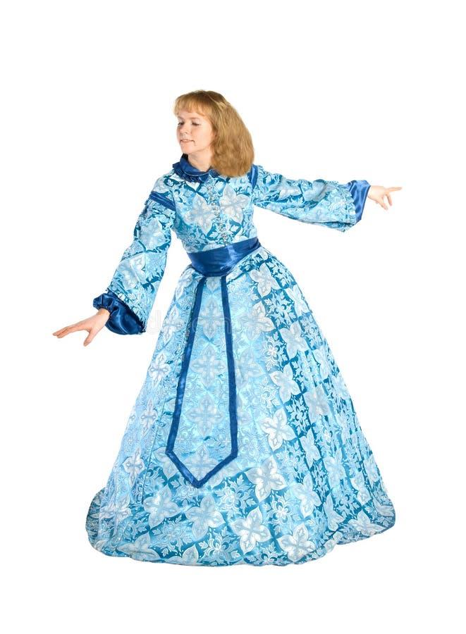 Vrouw in fancydress stock foto