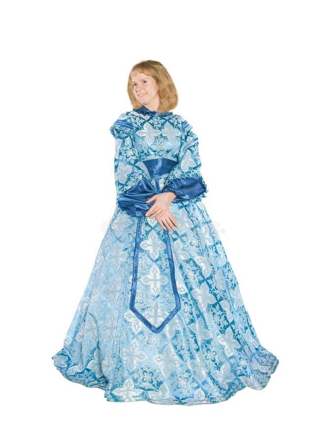 Vrouw in fancydress royalty-vrije stock afbeeldingen