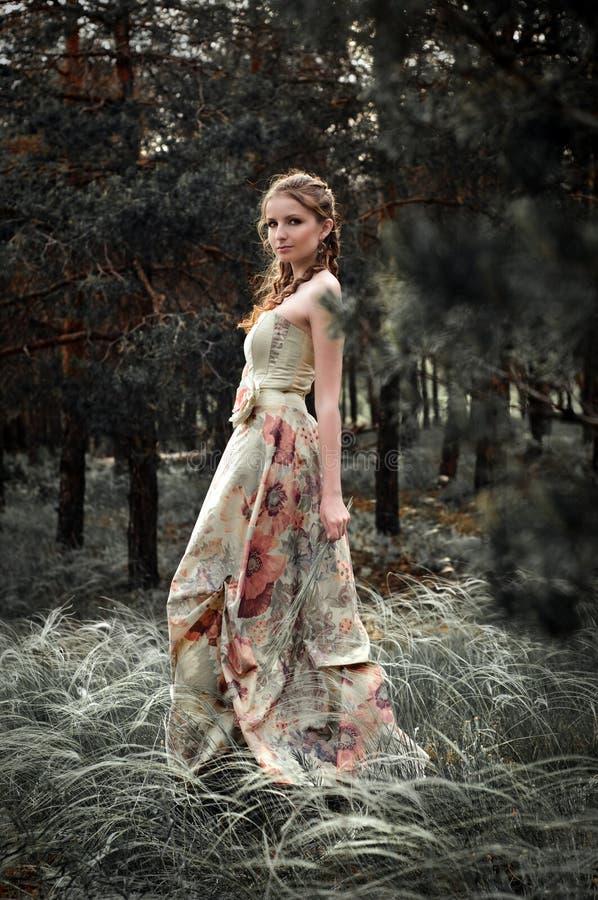 Vrouw in feebos royalty-vrije stock foto
